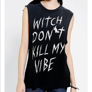 UNIF Witch Don't Kill My Vibe Muscle Tee Top
